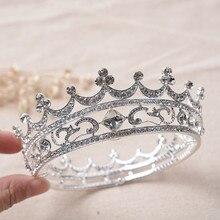 Европейский Старинные Горный Хрусталь Крона Невесты Кристалл Королева Тиара Свадьба Королевская Диадема Ленты Для Волос Женщин Аксессуары Для Волос HG229