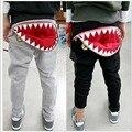 Venda quente 2 - 7 anos crianças calças meninos tubarão calças crianças harem calças outono roupas