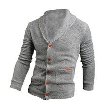 2017 NEW Sweater Lapel Mens Cardigan Sweater Fashion Knitted Sweater Coat of Cultivate One's Morality