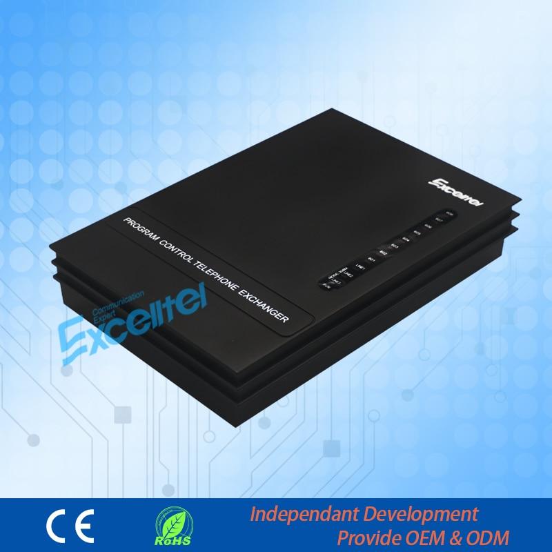 Client spécial Excelltel Mini PABX MS + 308 308 pbx système d'échange téléphonique