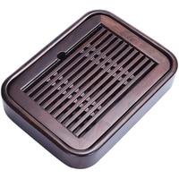 tea tray Wenge wood / ebony tea table reservoir tea boat wooden trays for kungfu tea set pot cup plastic layers small