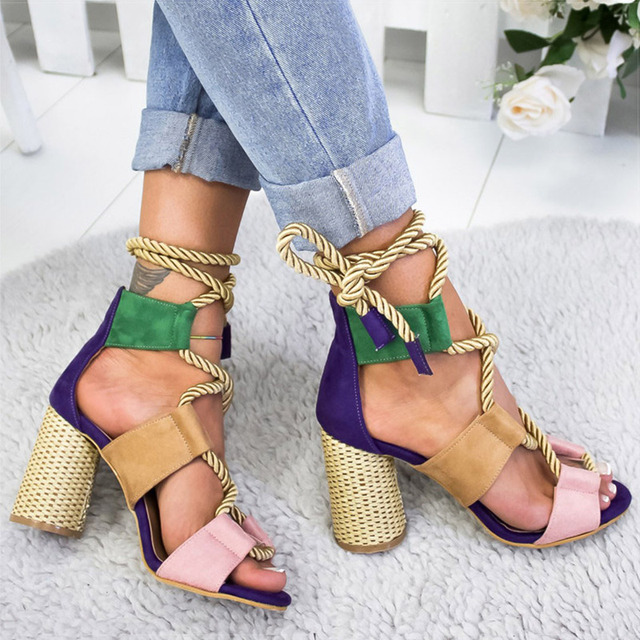 Pointed Fish Mouth Gladiator Heels Sandals 3