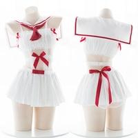Women Lovely Sailor Adult Sex Costumes uniform Sexy Lingerie Mini Dress Students Uniforms Halloween Costumes For Women