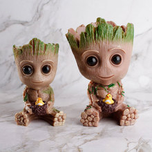 15cm baby pot toy pen stand avengers hero pvc flower Groot tree garden exclusive free shipping