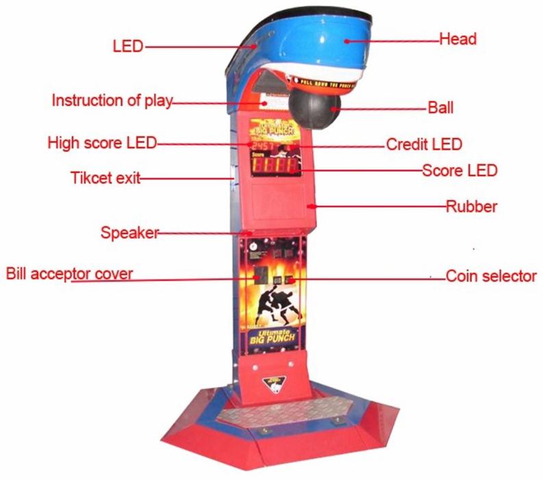 Amusement Park Equipment boxing punch arcade game machine