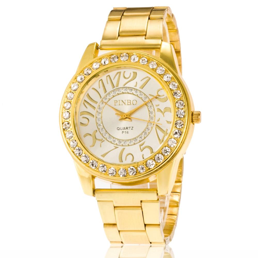 Brand Women Watches Alloy Steel Fashion Luxury Diamond Watches Quartz Wristwatches Fake Gold Watches Diamond Watch For Men