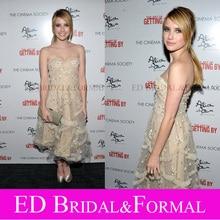 Emma Roberts Creme Kleid Cocktailparty-heimkehr Premiere der Kunst Des Immer
