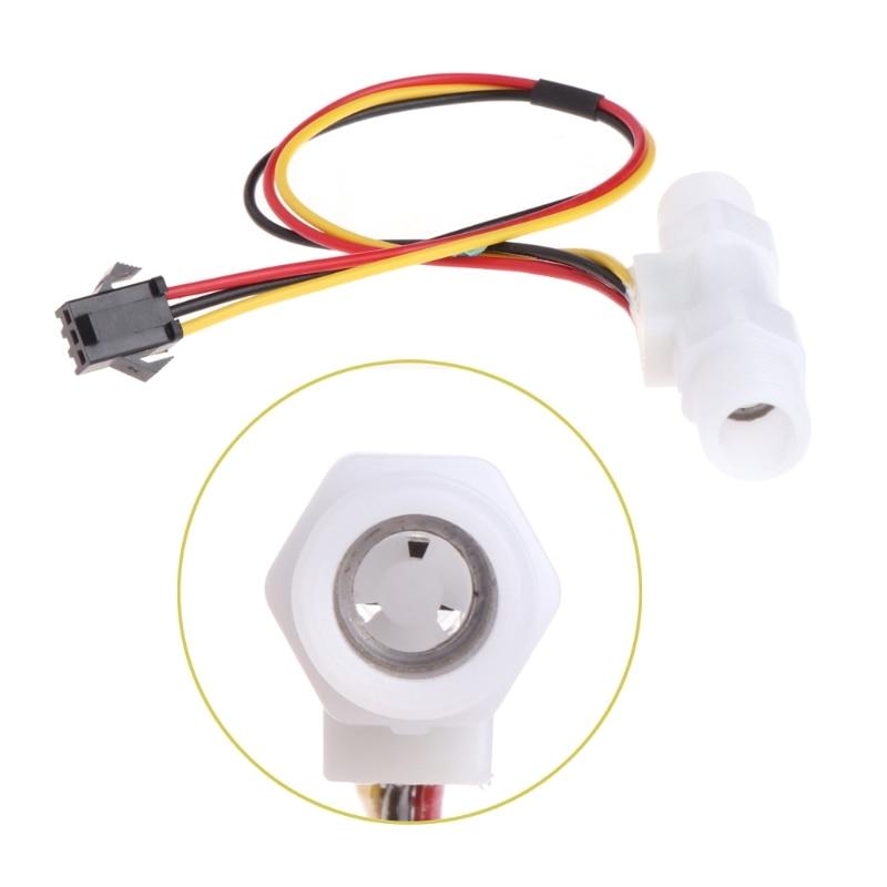 0,3-3.0l/min Kunststoff Wasser Flüssigkeit Ebene Flow Sensor Meter Männlichen G1/4 R06 Drop Schiff Modischer (In) Stil;