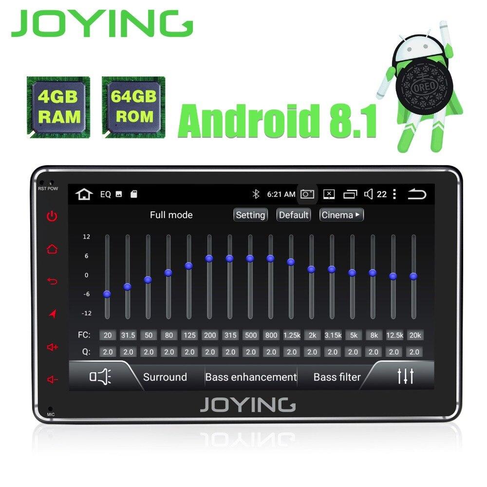 JOYING 4 GB + 64 GB 1din 7 ''GPS Android 8.1 autoradio Avec Livraison caméra arrière stéréo audio Octa core HD autoradio auto avec carplay