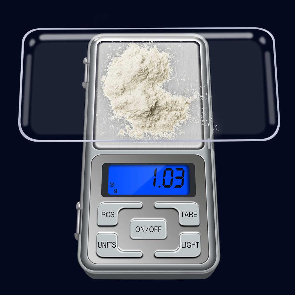 GASON Z4 Balance de bijoux pour poids or haute précision Mini poche électronique Balance numérique affichage LCD grammes (100g/0.01g)