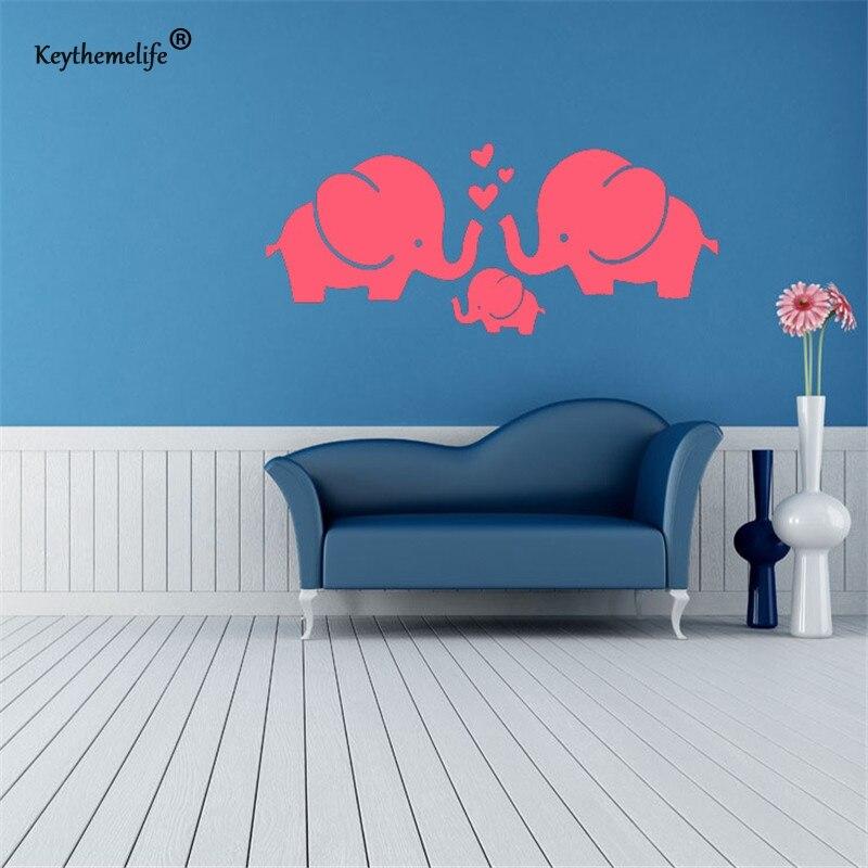 PVC Wall Stickers Cartoon Decals Children Sticker Elephant Wall Sticker Home Poster Kids Rooms Wall Decor DIY B