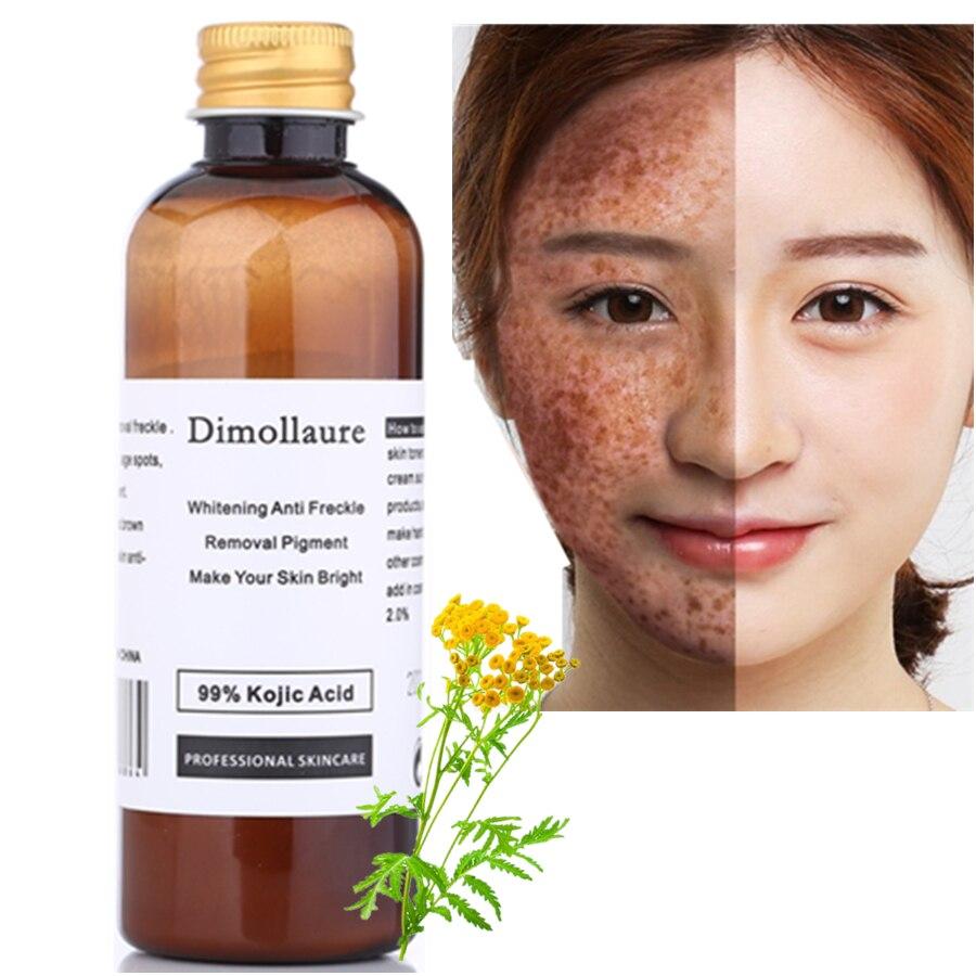Dimollaure 50g puro 99% Ácido Kójico cara blanqueamiento crema quitar pecas melasma manchas de acné pigmento quemaduras solares melanina