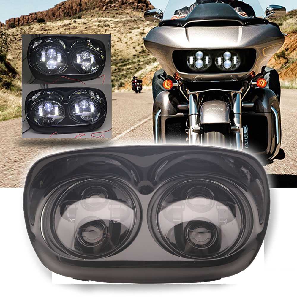5.75 Inch Dual LED Headlight 80W High Low Beam Fit For Road Glide 2004- 2013 Road Glide Accessories
