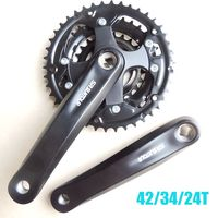 2019 NEW SR bicycle Chain Wheel 24/34/42T Bicycle Crank 170mm Fit Speed 6/7/8 Chainwheel MTB Cycling Bicycle Crank Chainwheel