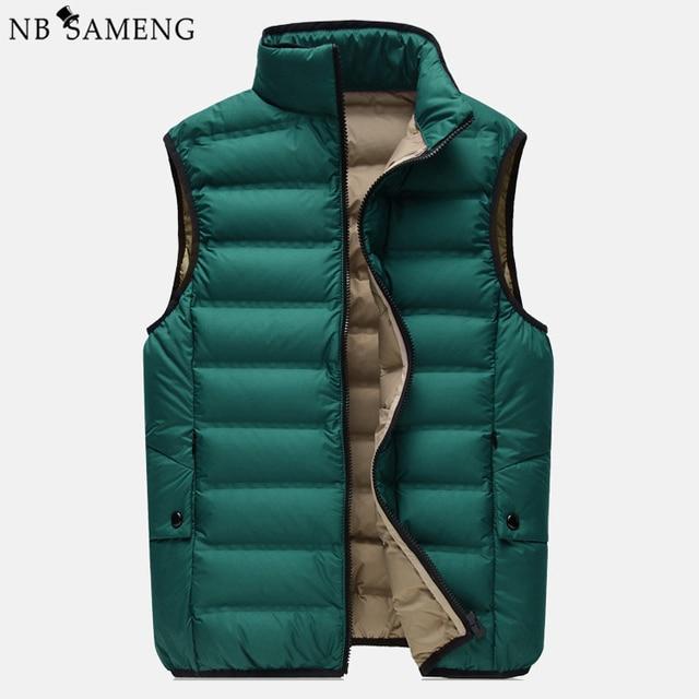 2016 90% Duck Size M-XXXL Casual Down Vest New Winter Men's Collar Slim Warm Down Vest Short Paragraph For Men 13M0718