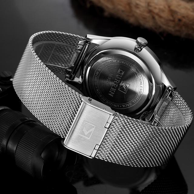 CURREN Luxury Brand Quartz Watch Men's Casual Business Stainless Steel Mesh band Quartz-Watch Fashion Thin Clock male Date New