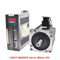 2KW 220V AC Servo Motor 130ST M07725 Single Phase Servomotor Kit CNC Motor Matched Drive With 3M Encoder Cable