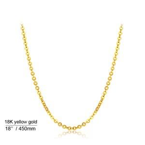 Image 2 - אמיתי 18K לבן צהוב זהב שרשרת שרשרת תליון 18 סנטימטרים au750 תכשיטי שרשרת נשים בסדר מתנה
