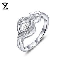 YL Танцы топаз Обручальные кольца для Для женщин Красивые ювелирные изделия 925 Серебряная свадьба Best друг подарок кольцо Размеры 7