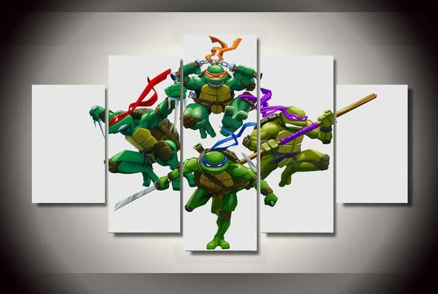 Ninja Turtle Wall Decor aliexpress : buy large hd oil paintings on canvas cartoon