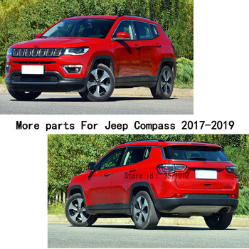 Für Jeep Kompass 2017 2018 2019 Auto Styling Widmen Lizenz Plat Racing Gitter Grill Grille Haube Panel Trim Rahmen Moulding 1 Stücke