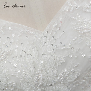 Image 5 - Beatiful Pearls Beading Cap Sleeve Dubai Wedding Dress 2020 Ball Gown Lace up Embroidery Vintage Bride Dress Wedding Gown WX0107