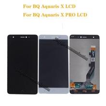 新しい液晶 Bq Aquaris bq Aquaris × 液晶ディスプレイのタッチスクリーンデジタイザアセンブリのための X プロディスプレイ携帯電話修理部品