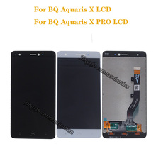 Pantalla lcd para BQ Aquaris X MONTAJE DE digitalizador con pantalla táctil, para bq Aquaris X Pro, piezas de reparación de teléfonos móviles