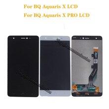 Tela lcd para bq aquaris x, display lcd, touch screen, digitalizador, montagem para telefones bq, aquaris, x, pro peças de reparo