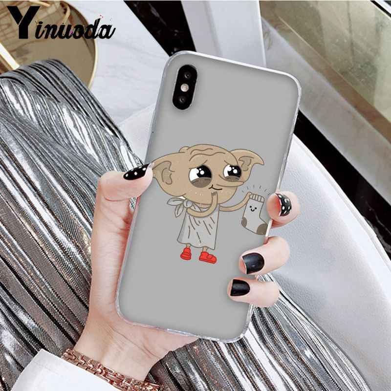 Yinuoda potter movie Dobby Unico Copertura Del Telefono di Disegno per il iPhone di Apple 8 7 6 6S Plus X XS MAX 5 5S SE XR Mobile Custodie