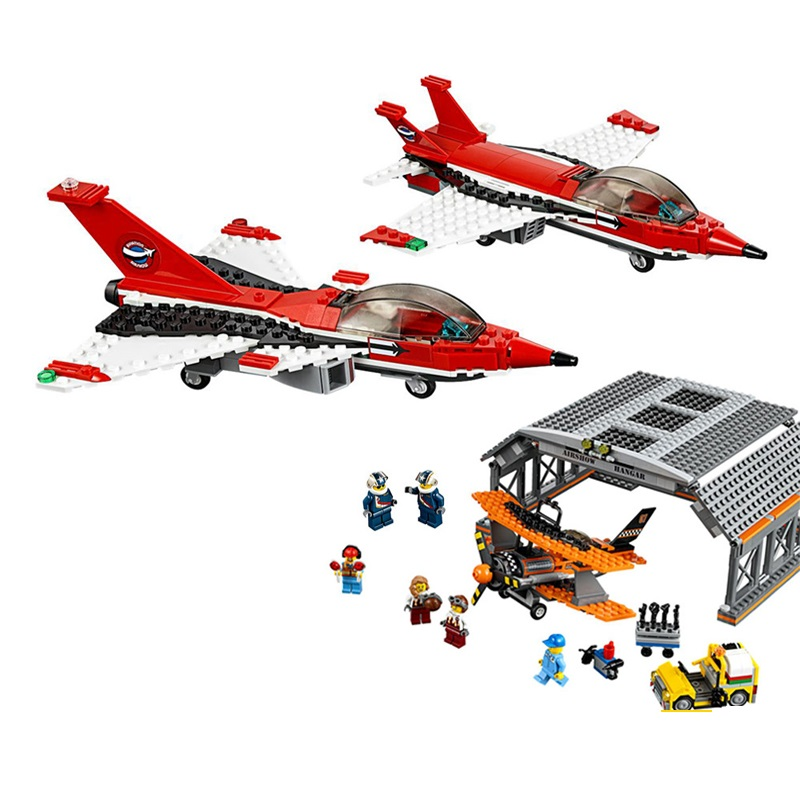 Compatible with Lego City 60103 model 02007 723pcs airport flight performance Figure building blocks Bricks toys for children city airport vip private plane blocks bricks building technic christmas toys for children compatible with legoeinglys lepin 8911
