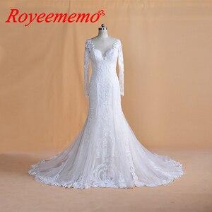 Image 4 - 2019 יוקרה בת ים חתונת שמלת מכירה לוהטת מלא ואגלי חתונת שמלת תפור לפי מידה מפעל סיטונאי כלה שמלה חדש כלה שמלה