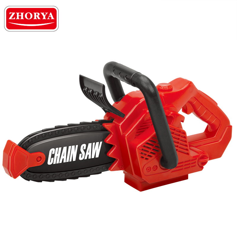 Zhorya Pretend Play Spinning Small Chainsaw with Sound Power Tool Garden Tool Simulation Toys for Children Boys