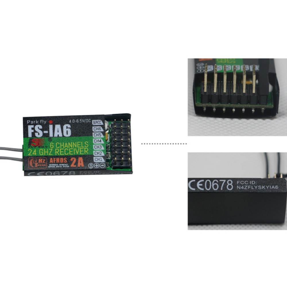 FlySky FS-iA6 2.4G 6CH AFHDS Receiver For FS-i10 FS-i6 GT2E GT2F GT2G Transmitter For RC ModelFlySky FS-iA6 2.4G 6CH AFHDS Receiver For FS-i10 FS-i6 GT2E GT2F GT2G Transmitter For RC Model