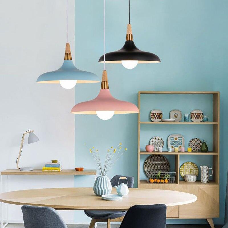 Lampara Colgante Pendant Lights Lustres Abajur Pendant Lamp Luminaire Hanglamp Wood Aluminum Lamp Shade For Home Lighting Dining (18)