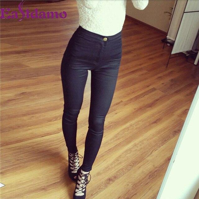 Slim Jeans Skinny Blue Denim Pencil Stretch Waist Pants Plus Size 3