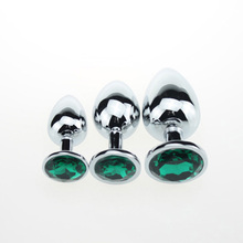 3PCS/lot Anal Trainer Metal Anal Butt Plug Love Plug Anal Stimulate Sex Toys for Women Anal Masturbation Sex Products for Adults
