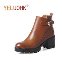 Platform Ankle Boots For Women Winter Boots Platform High Heels Women Boots Winter Shoes Plush Warm