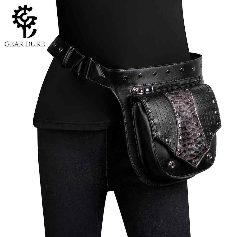 Pink Steampunk Bag Cosplay Retro Rock Gothic Shoulder Waist Bags