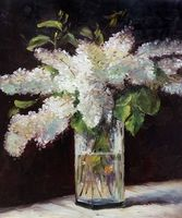 Lilacs In A Vase By Edouard Manet Wall Painting Flower Canvas Art Painting For Kitchen Christmas