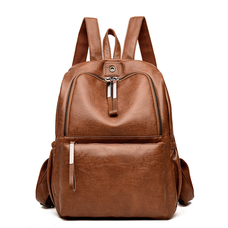 2019 Vintage Genuine Leather Backpack Women Elegant Backpack Female Shoulder Bag Travel Woman Back Pack Luxury Sac A Dos Femme