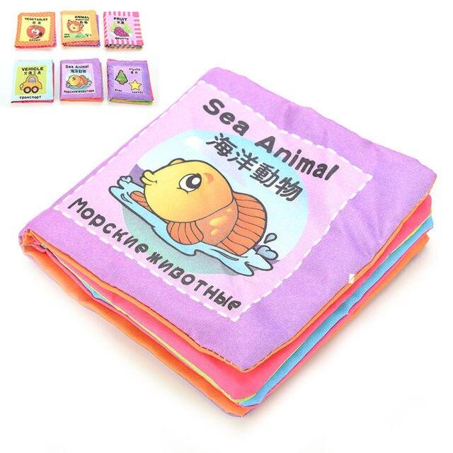 8 Страниц Детские Игрушки Младенческой Вс Ткань Книги Toys Doll игрушки Обучения и Образования Для 0-3Y Раннего Развития Книги для Детей подарки