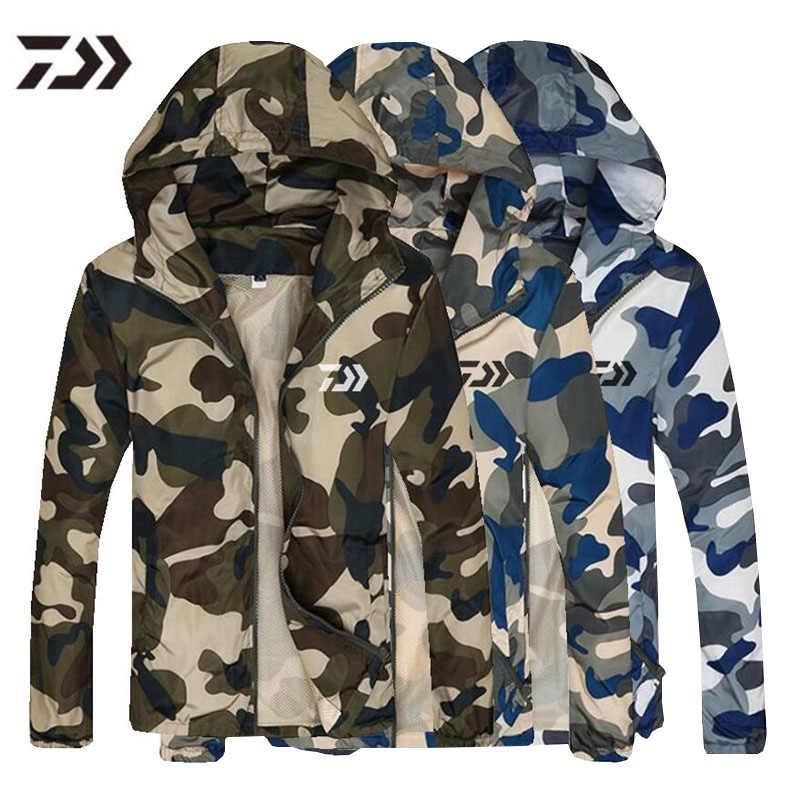 Daiwa Men Fishing Jacket Solider Tactical Camo Shirts Quick Drying Outdoor Hiking Trekking Clothes Men Sunscreen Fishing Shirts Hiking Jackets Aliexpress