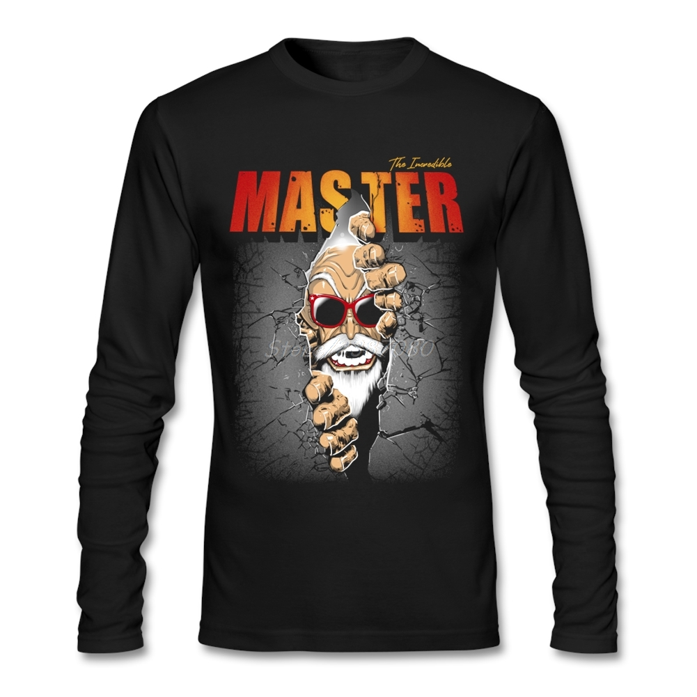 Hipster l'incroyable maître Roshi Dragon Ball T Shirt Undertale hommes t-shirts mode 2019 coton à manches longues hommes chemises