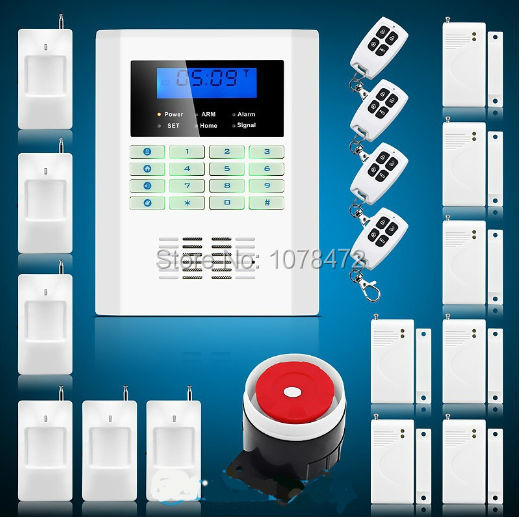 99 wireless zones SMS GSM850/900/1800/1900Mhz burglar alarm panel,home security PSTN teleohone line classic GSM alarm system wireless emergency help panic button sensor for my 99 zones home alarm system gsm pstn security burglar alarm