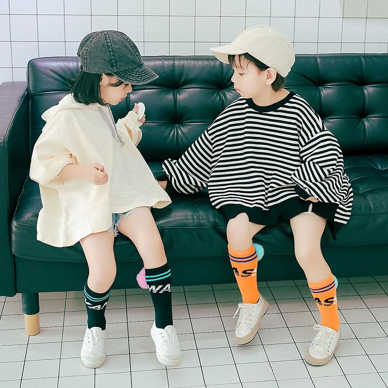 Spring/Autmn/Winter Fashion Baby Cotton Long Socks Kids Boys Girls Knee High Socks 1-8years Old