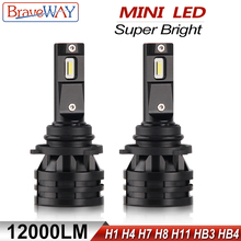 BraveWay Mini LED H1 Headlight Bulb Lamp H11 Fog Lamp Lighting Bulb 12V Farol Auto H4 LED Light H7 H8 H9 H11 HB3 HB4 9005 9006 1 piece car h8 h11 led 9005 hb3 9006 hb4 h4 h7 p13w h16 5630 33smd 12v fog lamp running light bulb turning parking bulb
