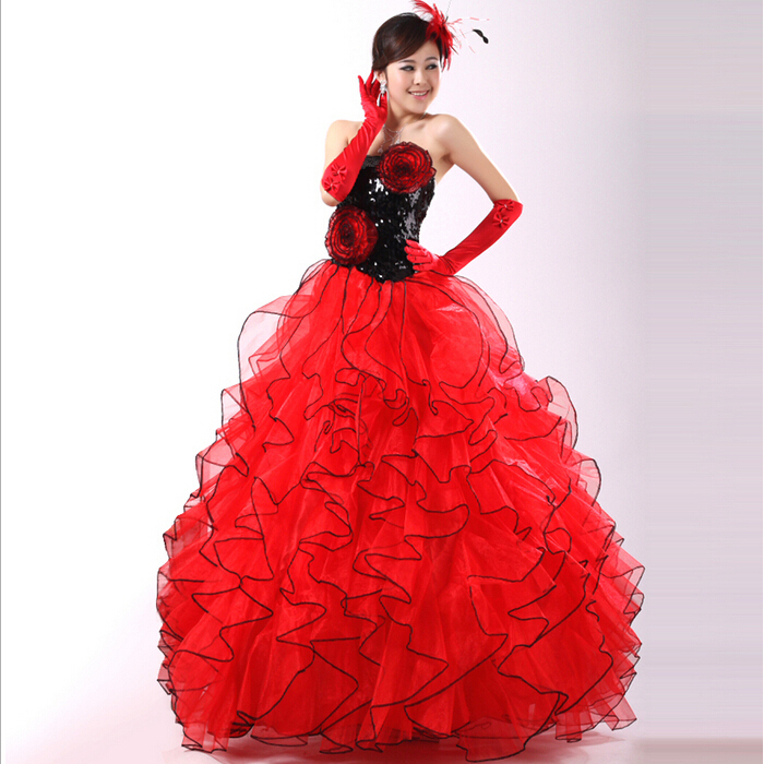 Red Ball Gown Wedding Dresses: Special Occasion Multicolor Red Tulle Rainbow Amazing