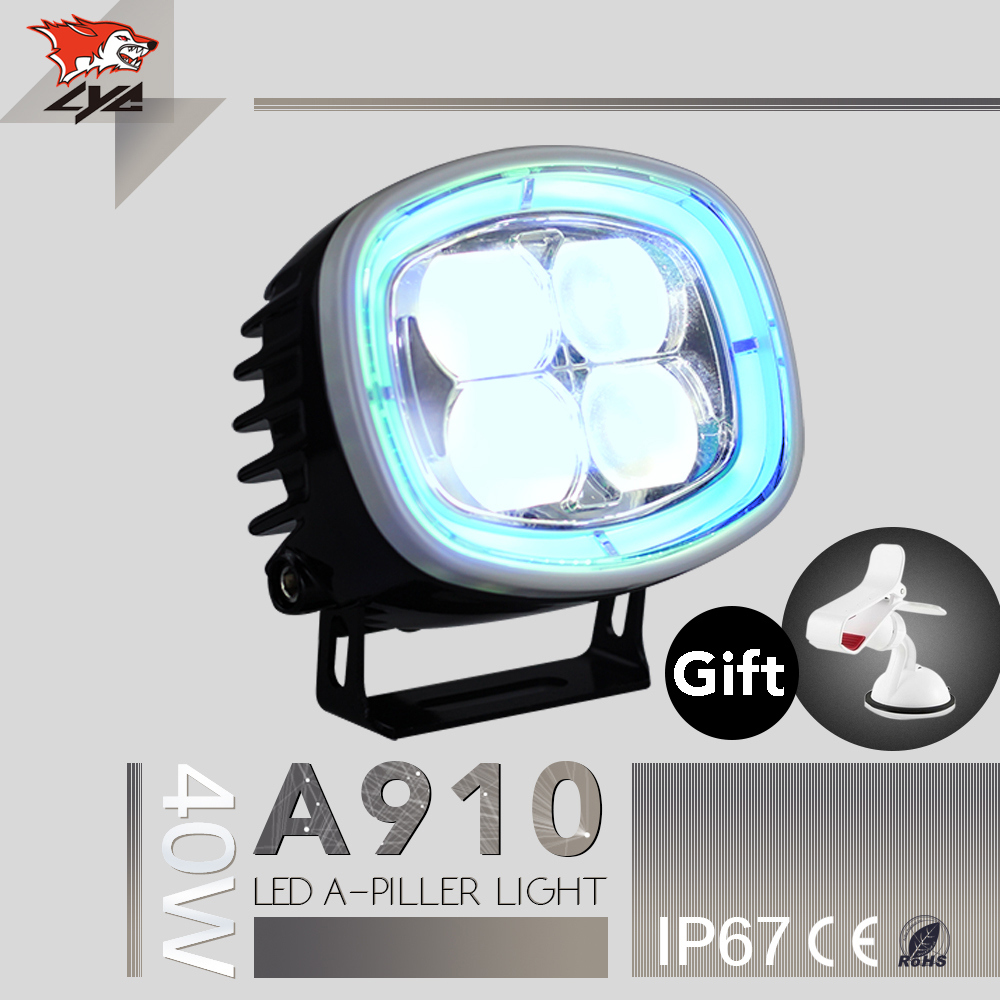 LYC 2012 For Jeep Wrangler Light Guards Running Day Lights Car Parts Led Lights Spot Lamp IP67 40W For Offroad SUV Running lyc 6000k led daylight for citroen c4 for nissan led headlights 12v car led lights ip 68 chips offroad work light 40w