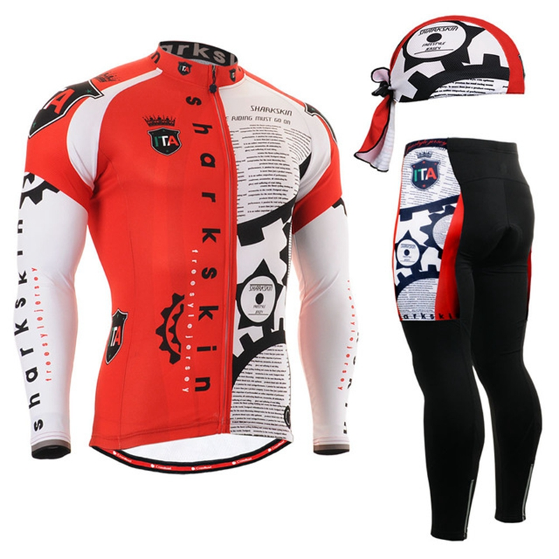 2017 Pro Team Cycling wear Winter Cycling Clothing Ropa Ciclismo red Long Sleeve Winter Cycling Jersey suits Bicycle Clothing